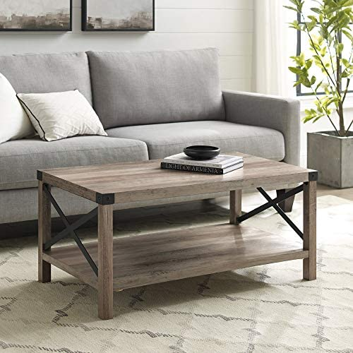 Best living room table: 40 Inch Metal X Frame Coffee Table