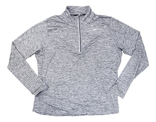 Womens Pullover Nike (NIKE Womens Plus Dry Element Running Fitness Pullover Top Gray 1X)