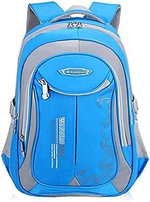 UrChoiceLtd® Mochila Mochila Niños Mochila Escolar Niños Niñas Grades 4 – 6 bolsa de hombro impermeable reflectante para niños niños (luz azul)