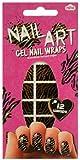 Tiger Stripes Nail Art Gel Nail Wraps Set 24 pcs sku# 1891451MA