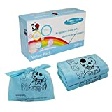 Mom Easy Easy-Tie 200 Counts Baby Disposable Diaper Sacks/Diaper Bags,Unscented,Anti-Mircobial