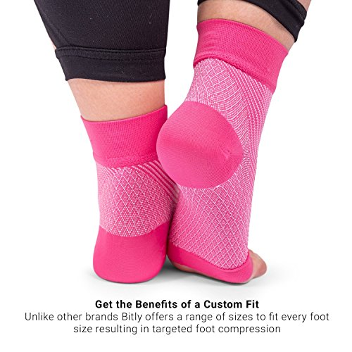 Bitly Plantar Fasciitis Socks (1 Pair) Premium Ankle Support foot Compression Sleeve (Large) by Bitly (Image #6)