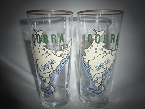 Cobra cerveza media pinta vasos 250 ml/10 oz (Juego de 2): Amazon.es: Hogar