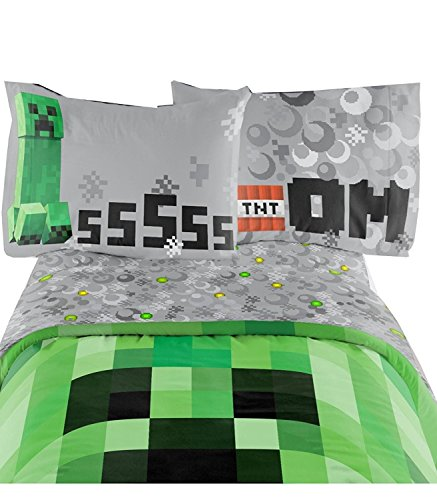 Minecraft Bedding Set Excellent Designed Multicolored Kids Comfortable Twin Sheet Set 66