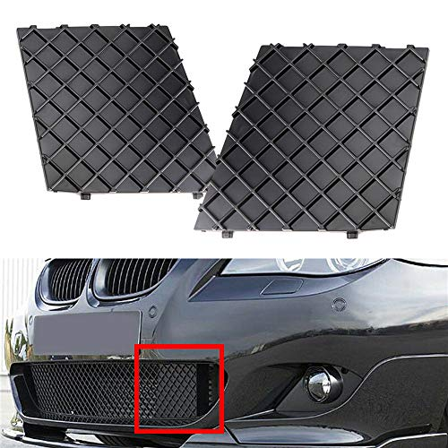 iJDMTOY Pair Front Bumper Lower Grille Mesh Cover Replacements For 2004-2010 BMW E60 E61 5 Series M-Sport Aerodynamics Package Bumper ONLY