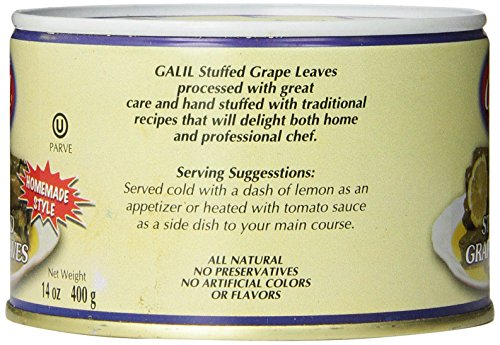 Galil Stuffed Grape Leaves Non-GMO, 14-Ounce Cans (Pack of 12) by Galil (Image #3)