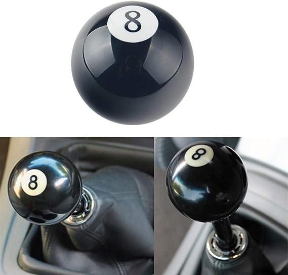 Xnbnsj - Pomo para palanca de cambios manual con forma de bola redonda, número 8, negro: Amazon.es: Bricolaje y herramientas