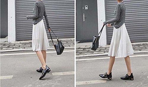 Punta Hebilla Zapatos de Planos Mujer de de Estrecha Sandalias Cintur 5qAFwc4vPA