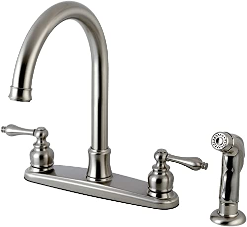 Kingston Brass FB7798ALSP Victorian 8-inch Centerset Kitchen Faucet, Brushed Nickel