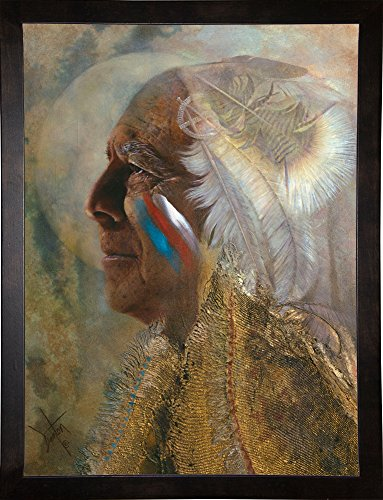 Frame USA Wicasa Wakan (the Holy Man) Framed Print 42.5''x31.5'' by Denton Lund, 42.5x31.5, Cafe Espresso by Frame USA