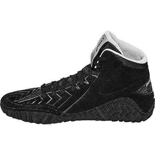 Asics Aggressor 3Ringer scarpe stivali Ringer Wrestling MMA BJJ, nero, 45