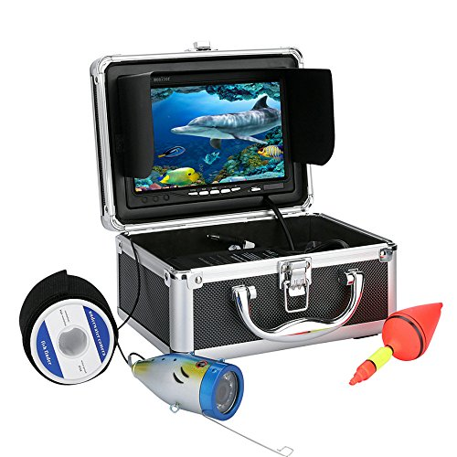 """30M 1000tvl Underwater Fishing Video Camera Kit 12 PCS LED Lights with7"""" Inch Color Monitor Ennio Fish Finders And Other Electronics"""