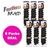 Freetress Synthetic Crochet Bulk Baid Hair - GOGO CURL 26' (6-Pack, 1)