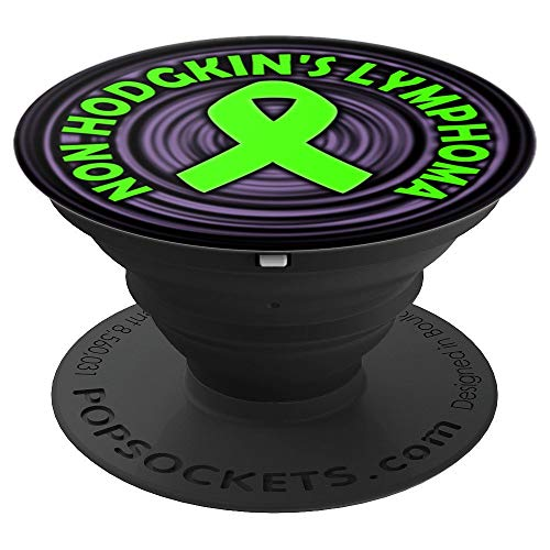 Non Hodgkins Lymphoma Awareness Ribbon For Smartphone - PopSockets Grip and Stand for Phones and Tablets