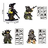 Minifigures Set - 12pcs Army Minifigures SWAT Team with Military Weapons Accessories Policeman Soldier Minifigures Toys Building Blocks 100% Compatible