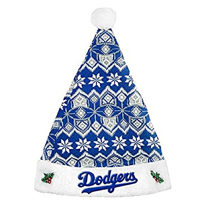 Forever Collectibles - Los Angeles Dodgers Knit Santa Hat - 2015