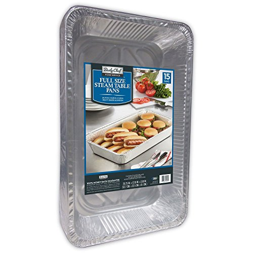 Bakers & Chefs Aluminum Steam Table Pans - 15ct