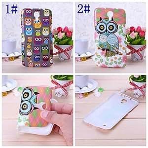 TOPMM Cute Owl Pattern Silicone Soft Case for Samsung Galaxy Mega 6.3 I9200 , 1#