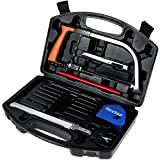 Rovtop 15 in 1 Handsaw Set,Portable Woodworking Tool for Cutting Wood, Plastic, Glass, Tile, Metal, Rope, PVC Pipe, Rubber,Woodworking Tools,Hacksaw Blades Tool Case