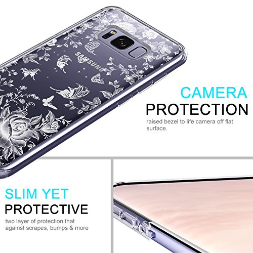 Floral Case for Samsung Galaxy S8 Plus White Rose Garden