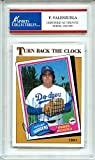 Fernando Valenzuela 1981 Topps Turn Back Clock Los Angeles Dodgers Autographed Trading Card - Certified Authentic
