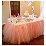 Stuffwholesale Princess Tutu Table Skirt Wedding Birthday Party Prom Mesh Table Decoration (#2)