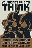 Poster Futurama You're not paid to think (61cm x 91,5cm) + 2 marcos transparentes con suspención