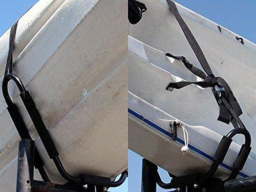 TMS J-Bar Rack HD Kayak Carrier Canoe Boat Surf Ski Roof Top Mounted on Car SUV Crossbar