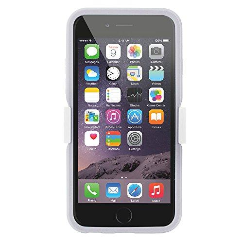 Ultraflache harte Schutzhülle APPLE IPHONE 6 / 6S [Le Clipsit Premium] [Weiss] von MUZZANO + 3 Display-Schutzfolien UltraClear + STIFT und MICROFASERTUCH MUZZANO® GRATIS - Das ULTIMATIVE, ELEGANTE UND