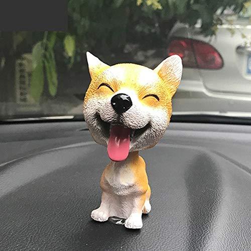 HOKUGA Baby Toys - Nodding Dog Funny Shaking Head Toys Cute Bobblehead Puppy Dolls Swing Car Ornaments Home Auto Interior Decor Car Dashboard Toys