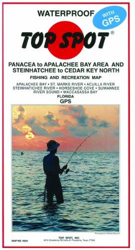 Top Spot Map Panacea Apalachee Steinhatchee to Cedar Key North by Topspot