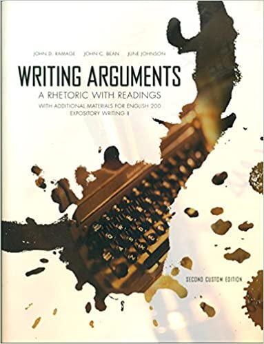Writing arguments a rhetoric with readings john d ramage john c writing arguments a rhetoric with readings john d ramage john c bean june johnson 9781323200629 amazon books fandeluxe Image collections