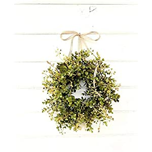 Mini Window Wreath, MINI Eucalyptus Wreath,Farmhouse Wreath,Country Cottage Wreath, Farmhouse Decor, Small Wreath, Modern Farmhouse Wreath,Rustic Home Decor, Greenery Wreath, Gifts 95