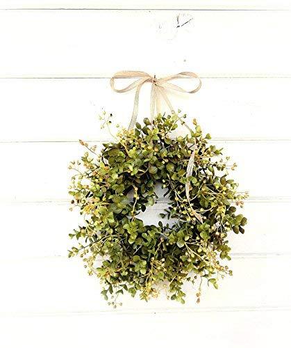 (Mini Window Wreath, MINI Eucalyptus Wreath,Farmhouse Wreath,Country Cottage Wreath, Farmhouse Decor, Small Wreath, Modern Farmhouse Wreath,Rustic Home Decor, Greenery Wreath, Gifts )