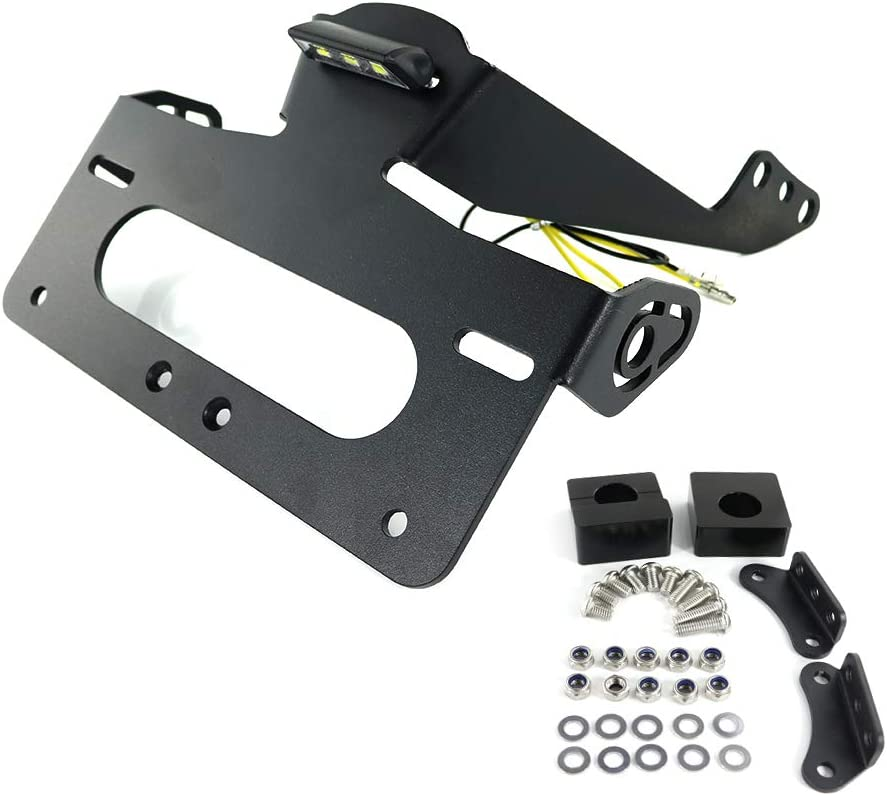 Tail Tidy for YAMAHA FZ-09 MT-09 2014 2015 2016 license plate holder//number plate holder with LED License Plate Light Compatible with Stock /& Aftermarket Turn Signal Xitomer MT09 Fender Eliminator