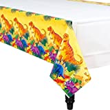 "Prehistoric Party Dinosaur Paper Table Cover Tableware, , 54"" x 96"""