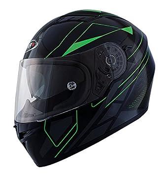 Casco Shiro SH 600 Elite Negro y Verde (XXL)