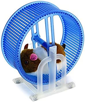 Happy Hamster Spinning Exercise Wheel Children S Kid S Electronic Toy Pet Playset W Hamster Wheel Stand Colors May Vary By Electronic Toy Pets Amazon Co Uk Toys Games