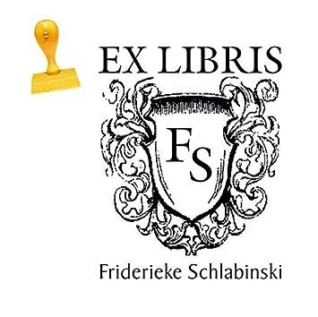 EX LIBRIS EXLIBRIS STEMPEL mit WUNSCHNAMEN Neu 02 !