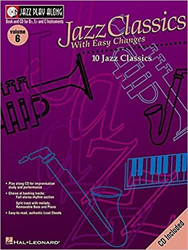 JAZZ PLAY ALONG VOLUME 6 JAZZ CLASSICS WITH EASY CHANGES BFLATINST