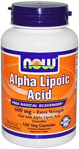 Now Foods Alpha Lipoic Acid 600 mg - 120 Veg Capsules 2 Pack
