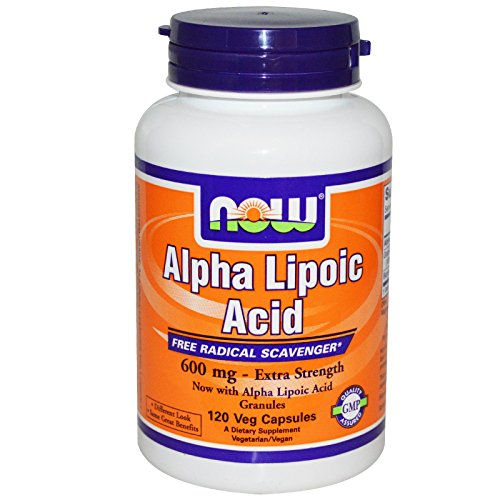 Now Foods Alpha Lipoic Acid 600 mg - 120 Veg Capsules 6 Pack by NOW Foods