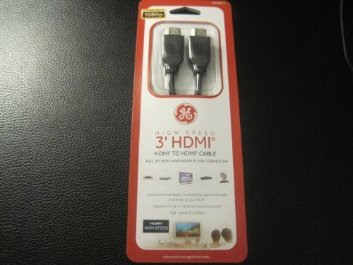 GE High Speed HDMI Cable 3'