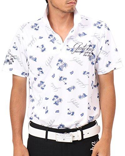 [ガッチャ ゴルフ] GOTCHA GOLF ポロシャツ ドライ リゾート カラー ポロ 182GG1218 ホワイト Sサイズ