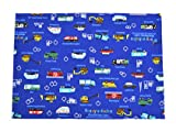 Car to work, set of 2 Standard type full throttle Kids luncheon mat (Royal Blue) made in Japan N3655200 (japan import)