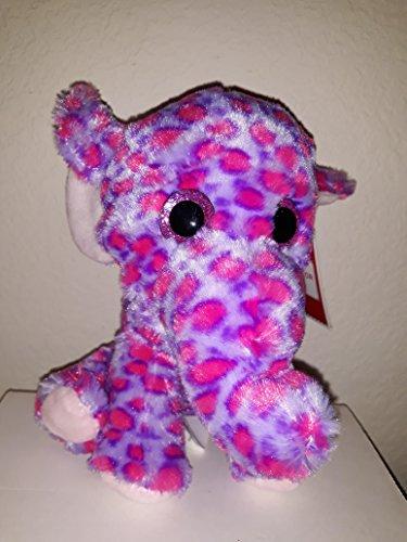 Holiday Time 8 Inch Plush Round Animal/Multi Color Elephant