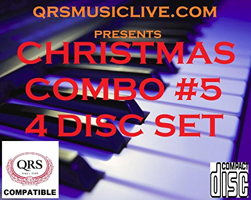 2018 CHRISTMAS COMBO PAK #5 (4 CD SET) - QRS PIANOMATION Compatible Player Piano CD