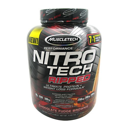 - MuscleTech Performance Series Nitro Tech Ripped - Chocolate Fudge Brownie - 4 lbs