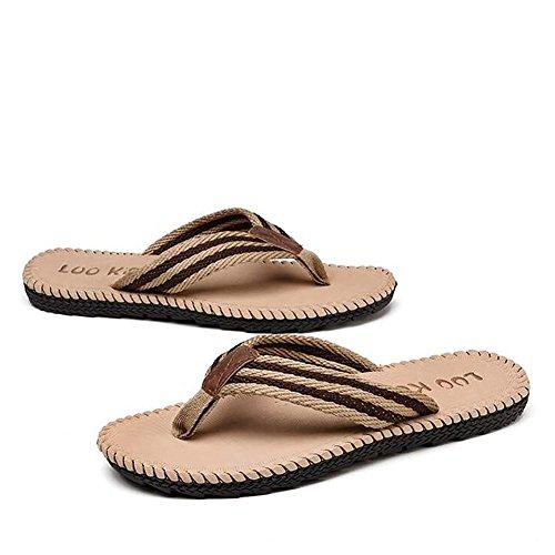 45 Mujeres Color Summer Slipper Deslizador libre 42 39 Caqui Tamaño Beach ZJM Rojo Slipper grande Sandal Hombre al aire wSqA64O