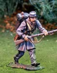 Stonewall Jackson Civil War Battle of Gettysburg confederate soldier. Metal collectable soldier. 1/30th scale Butternut Rebel fighting under Robert E. Lees command on Little Round Top. Advancing Pose from Collectors Showcase